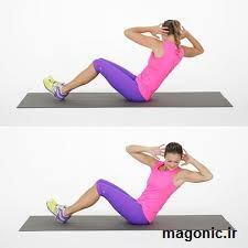 حرکت ورزشی کرانچ کج