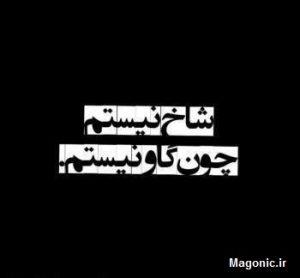 تصویر نوشته خفن شاخ