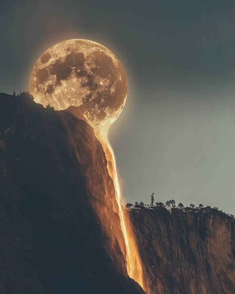 عکسی خارق العاده از ماه برای تصویر پروفایل