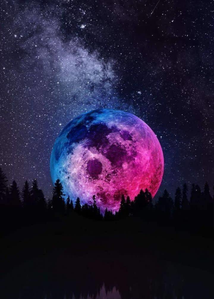 تصویری مجازی از سیاره ماه