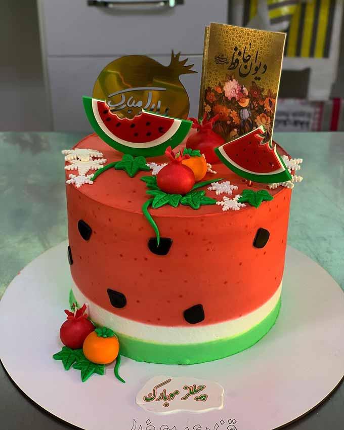 کیک شب یلدا مبارک