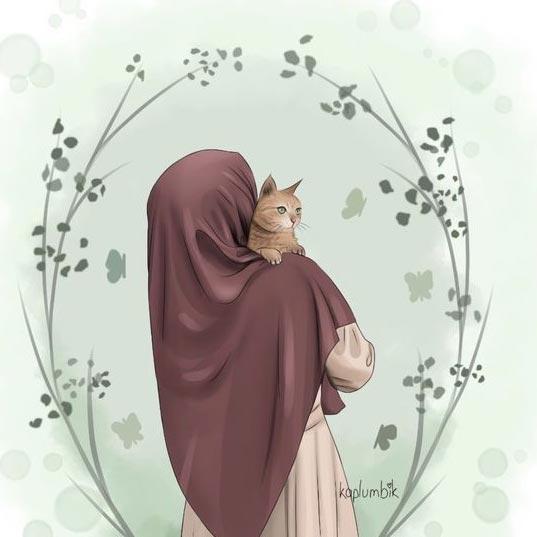عکس دختر چادری کارتونی