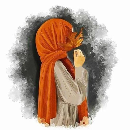 عکس پروفایل دخترونه چادری کارتونی