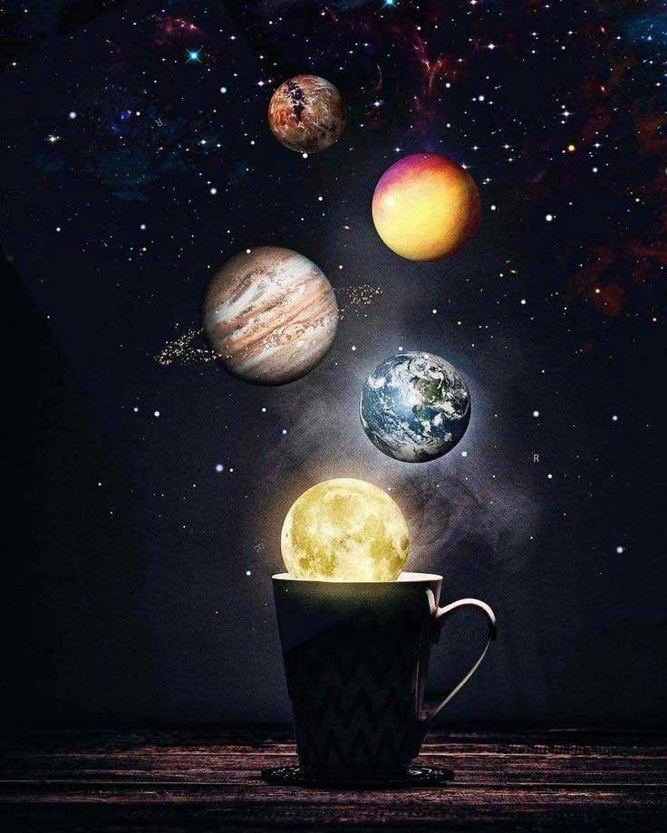 عکس پروفایل کهکشان ها و سیارات