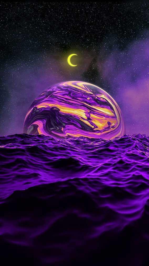 تصویر زمینه اسمان و سیاره