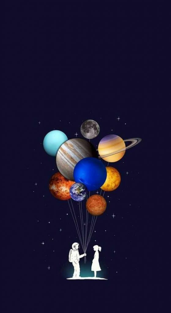 والپیپر و بک گراند سیاره و فضانورد